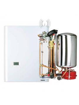 chaudière frisquet hydroconfort condensation visio avec ballon