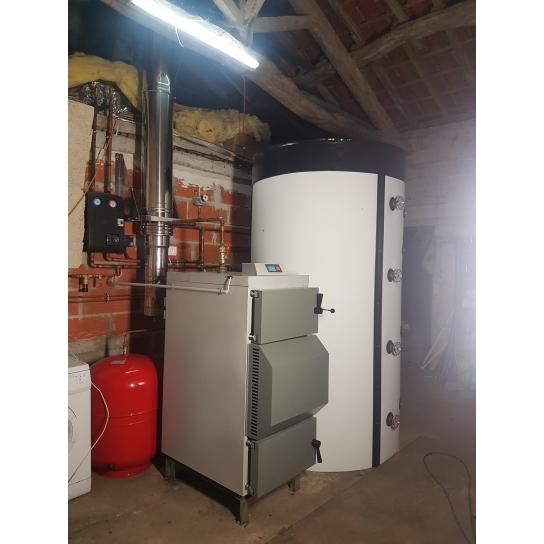 Chantier: pack installation chaudière bois Vigas 40 kW lambda Control