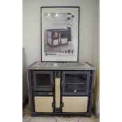 Thermo-cuisinière bois bûche céramique beige EXPO