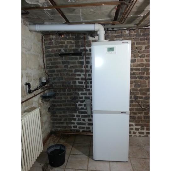 Instalation gaz chaudière Frisquet PRESTIGE Vision Condens 45kW avec UPEC 120L