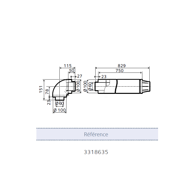 Terminal ventouse pour chaudi res condensation chaffoteaux for Chaudiere a condensation chaffoteaux