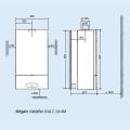 Chaudière ELM LEBLANC murale gaz MEGALIS CONDENS 24KW mixte à micro accumulation