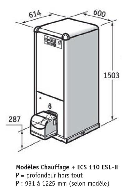 chaudi re fioul chapp e mutine avec production eau chaude. Black Bedroom Furniture Sets. Home Design Ideas